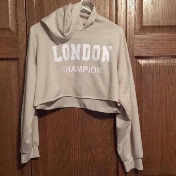 Shein Crop top hoodie